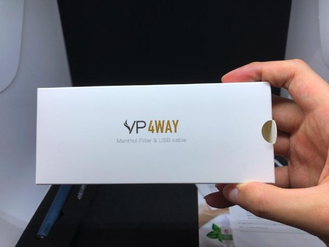 VP 4WAYの付属品のパッケージ